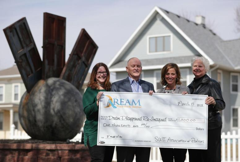 3-15-18 REALTORS Donate $1.,000 to the Dream Playground Re-Imagined